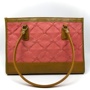 Elvis & Kresse Fire Hide Pink Yellow Square Tote